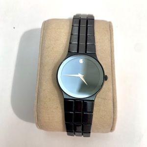 Movado onyx watch